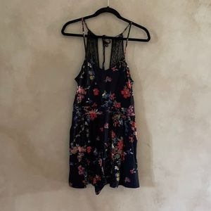 Floral and lace cami romper. Jumpsuit for Women